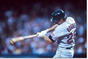 Wade Boggs collects first hit of career