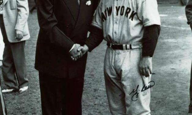 Ailing Babe Ruth makes his final appearance at Yankee Stadium