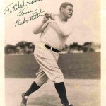 Babe Ruth Autographed Photo - 8x10 9 - PSA/DNA Certified