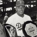 Brooklyn starter Don Newcombe receives major league baseball's inaugural CY Young Award