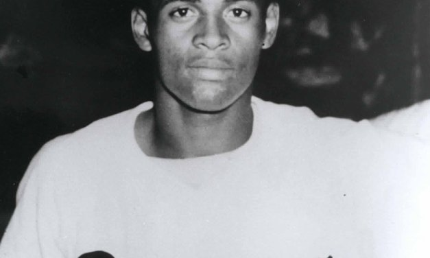 Roberto Clemente's smash to straight-away center provides the margin of victory in Puerto Rico's 1 – 0