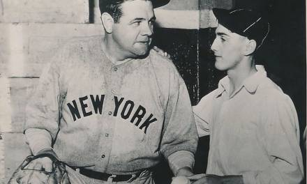 Babe Ruth and his 700th homerun