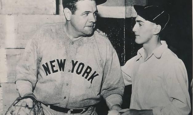 Babe Ruth and his 700th homerun