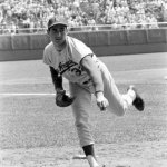Sandy Koufax of the Los Angeles Dodgers no-hits the Philadelphia Phillies