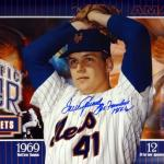 """Tom Seaver Autographed 12x36 Panoramic Photo New York Mets """"The Franchise HOF 92"""" Stock #77721 - PSA/DNA Certified"""