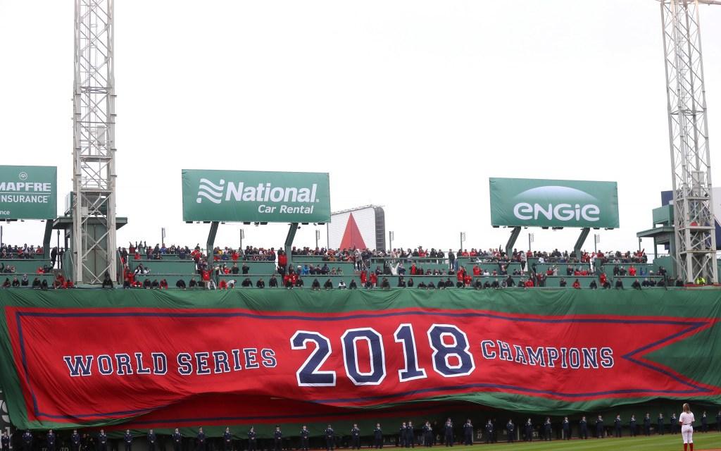 Red Sox raise theirWorld Seriesbanner