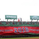 Red Sox  raise their World Series banner