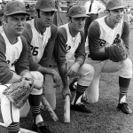 Indians players Bob Miller, Ted Uhlaender, Graig Nettles, and Dean Chance in 1970.