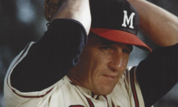 Warren Spahn, the highest-paid pitcher in baseball, met briefly at County Stadium with general manager John McHale before signing his 1962 contract. Terms of the contract were not released, but reportedly Spahn was in the $65,000 range.