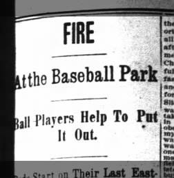Fire at League Park 1898