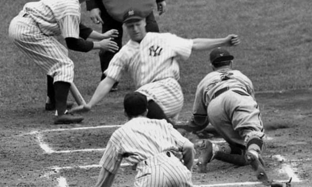 Gehrig scores on inside park homerun