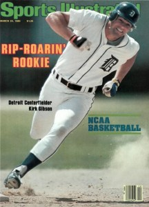 Kirk Gibson young Tigers outfielder graces the cover of Sports Illustrated.
