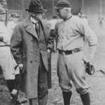 Tris Speaker and Commissioner Landis at spring training in Dallas, Texas - 1922.