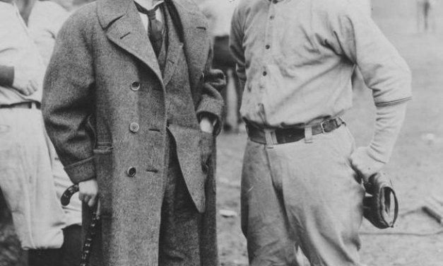Tris Speaker and Commissioner Landis at spring training in Dallas, Texas – 1922.