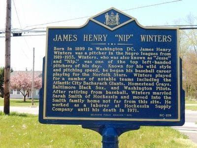 Nip Winters Marker Installed in Delaware