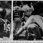 3/22/89 Benches clear twice and six players are ejected as the Phillies and Pirates get into a spring training brawl. Gotta love spring training fights.