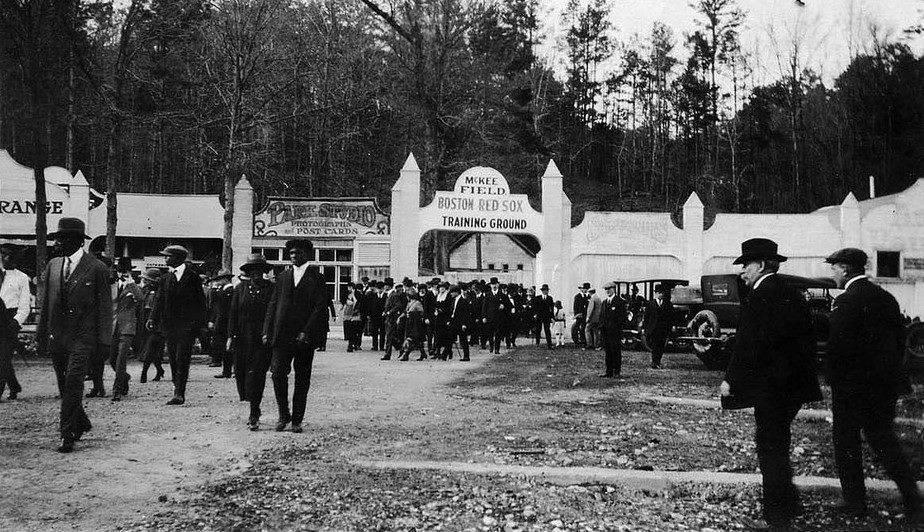 McKee Field at Hot Springs, Arkansas. Spring training – 1921.