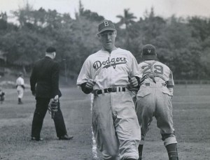 Pete Reiser at spring training in Havana, Cuba - 1947.