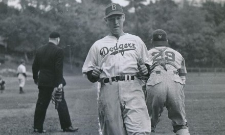 Pete Reiser at spring training in Havana, Cuba – 1947.