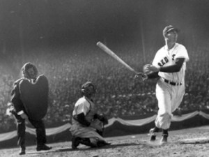 Although Lou Boudreau is usually given credit for implementing the shift on pull-hitter Ted Williams, White Sox manager Jimmy Dykes becomes the first to employ the defensive alignment against the Red Sox outfielder, who foils the plan when he goes 2-for-5, including a double, in Boston's 10-4 loss to the Pale Hose at Fenway Park. The Chicago skipper will abandon the strategy when 'the Kid' collects four hits in ten at-bats in the two-game series.