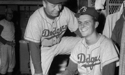 Don Drysdale wins first career game vs Philadelphia