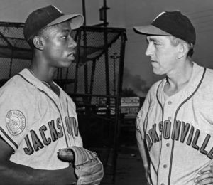 1953 Henry Aaron was the MVP for SALY League Jacksonville Braves where he played for Ben Geraghty, his favorite all-time manager.