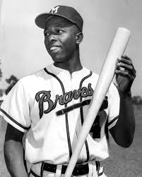 Hank Aaron is denied a homer when Chris Pelekoudas calls him out for stepping out of the batter's box.