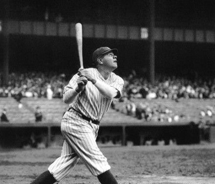 Babe Ruth, teeing off on a Tommy Thomas pitch, becomes the first player to homer over the roof of Comiskey Park