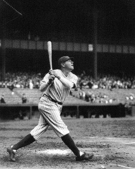 Babe Ruth becomes the all-time homerun leader with 575 foot blast