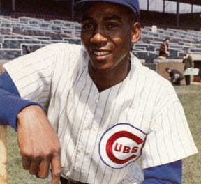 The Cubs pay tribute to Ernie Banks when the team retires the outfielder's uniform number (14) that he wore for 19 seasons.