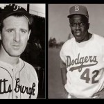 Hank Greenberg encourages Jackie Robinson