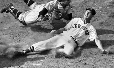 Ted Williams out at home
