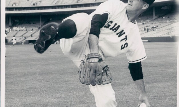 Warren Spahn wins his first game as a member of the San Francisco Giants