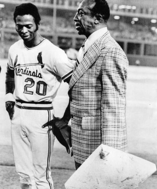 Cool Papa Bell after Lou Brock broke the single-season stolen base record in 1974