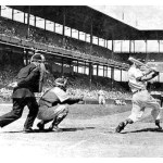 On Opening Day off Chicago hurler Paul Milner, Wally Moon hits a home run in his first major league at-bat. The 24 year-old Cardinal center fielder, who will be selected as the National League's Rookie of the Year, will also homer in the last at-bat of his freshman season.