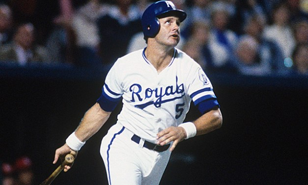 George Brett pushes his average to .406 with a 3 for 3 outing in a 5 – 3 win over Texas.