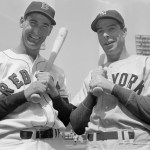 Ted Williams and Joe DiMaggio 1947