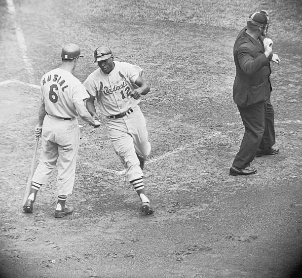 Bill White and Stan Musial