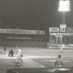 Stan Musial at bat at Crosley Field