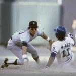 New York Yankees Bucky Bent and Kansas City Royals Hal McRae