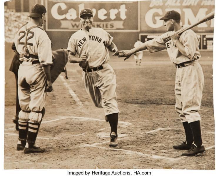 Lou Gehrig hits his final homerun
