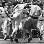Reggie Smith insites a fathers day brawl at Dodger Stadium
