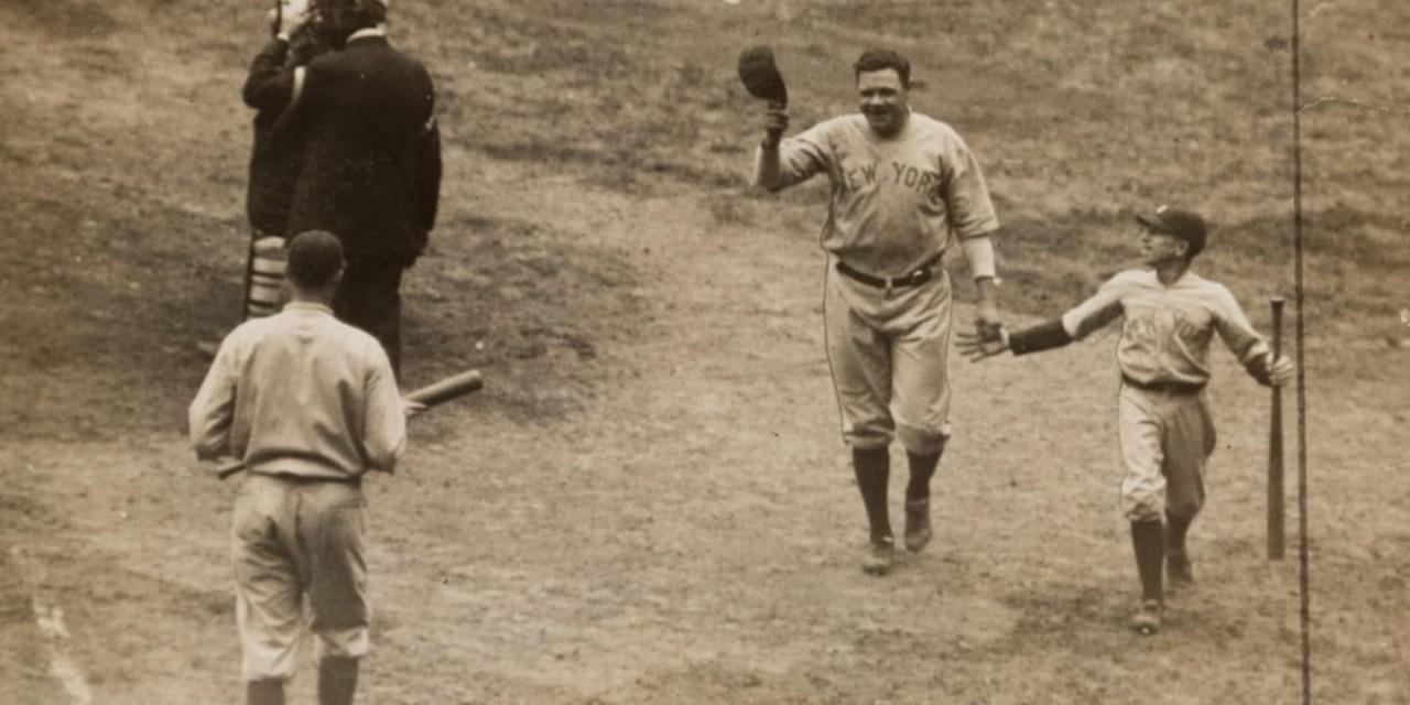 Ruth blasts 2 homeruns in World Series win