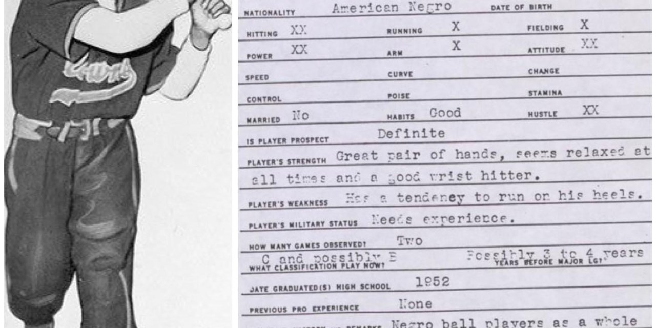 Hank Aaron Scouting Report 1952
