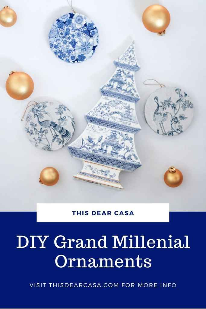 diy grand millenial style ornaments