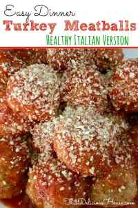turkey meatballs with parmesan cheese