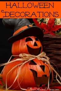 The best outdoor halloween decorations with two pumpkins on top of each other