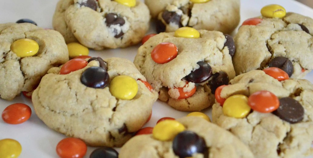 Reese's Pieces Peanut Butter Chocolate Chip Cookies