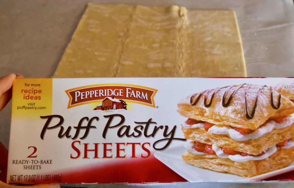 Pepperidge Farms puff pastry sheets for making Salmon Wellington
