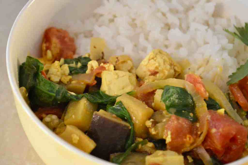 Tofu Eggplant Curry